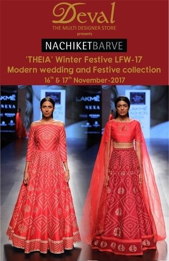 Deval The Multi Designer Store invites you for the NACHIKET BARVE's 'THEIA' - LFW Winter Festive 2017 collection inspired by Greco Roman Goddesses- Festive Wear for the Modern Wedding for the Bride and Bridesmaids on 16-17 November. For more details please call us +91 98984 22000 #stylish #designerwear #designercollection #garments #clothing #womenswear #multidesignerstore #designeraccessories #dresses #skds #kurtas #devalstore #ahmedabad #newcollection #latestcollection #devalthemultidesignerstore #luxurydesigner