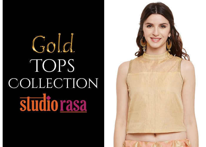 Gold tops collection!  http://bit.ly/2zIlLMr  #9rasa #studiorasa #ethnicwear #ethniclook #fusionfashion #online #fashion #gold #trendy #styles #tops