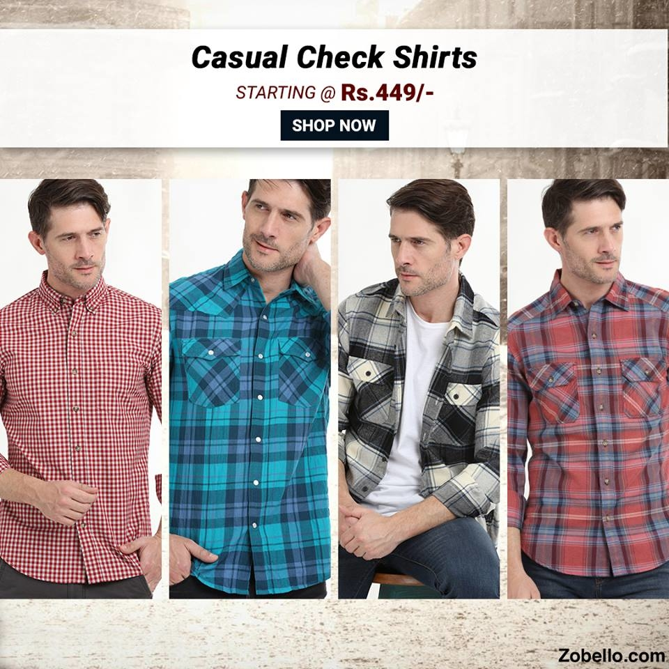 No winter wardrobe is complete without a CHECK SHIRT. Shop @https://goo.gl/04I36w  #zobelloclothing#menswear#fashion#shopping#shirts#casualshirt