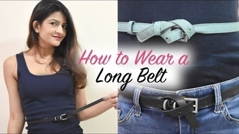 How to Wear a Long Belt | Roshni Chaudhari  #longbelt #belt #diy #howtotie #fashiondiy #creativefashion #addictedtolace #MumbaiBlogger #fashionblogger #fashionista #IndianYouTuber #styling #stylingtips #belts