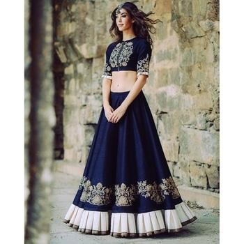 Blue Butta Embroidered Lehenga  SHOP NOW : http://bit.ly/2j19pXD  #goodvibes #oldschool #aapsundarho #ilovewinters #art #indianblogger #padmavati #cool #gajab #bachpan #desiswag #desi #model #bollywood #90skid #blackisbae #roposolove #fashionblogger #fashion #beats #voteforme #styles #blogger #beauty #roposogal #love #photography #newdp #shaamkascene #indian #lehenga #designerlehenga #bollywoodlehenga #florallehenga #fleaffair