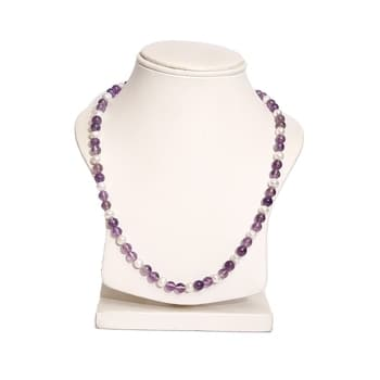 "Aqeeqee hand beaded freshwater ""Pearl and Amethyst"" genuine necklace for women  Freshwater pearls and amethyst necklace natural gemstones fashion of gemstones  Buy Link- https://www.amazon.in/dp/B071WSN1L6  #necklace #womennecklace #pearlnecklace #amethyst"