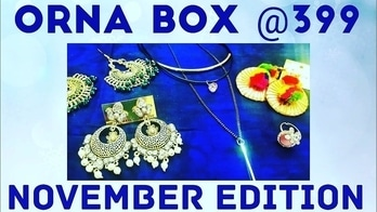 Orna Box Jewels November 2017 | Affordable Jewellery Subscription @399 | *Giveaway open*  Orna Box Jewels is one of the most affordable jewellery subscription box in India. It has two variants of Rs. 399 and Rs. 699 and both are definitely value for money boxes. They provide good quality and some unique design jewellery in their boxes. The November Rs. 399 Edition contains 5 pieces of jewellery, 1 necklace, 1 ring and 3 earrings. 💎 I have done an unboxing and review of their Rs. 399 variant on my channel. Please watch to know more. Link in bio! 💎 To place an order : Contact - 078380 47802 Instagram - https://www.instagram.com/ornaboxjewels/ Price - Rs. 399 + 50 for shipping 💎 #ornabox #ornaboxjewels #jewellery #affordable #jewellerysubscription #subscriptionbox #festiveready #ethnic #western #choker #pearlearrings #funkyrings #honestreviews #gotta #discoveringsubscriptions #subscriptionreviews #subscriptionboxindia  #unboxingandreview #youtuber #subscriptionreviews #sonammahapatra