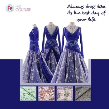 Always dress like its the best day of your life  with Fab Couture! Grab your fabric at : https://fabcouture.in/  #FabCouture! #DesignerFabric at #AffordablePrices  #DesignerDresses #Fabric #Fashion #DesignerWear #ModernWomen #DesiLook #Embroidered #WeddingFashion #EthnicAttire #WesternLook #affordablefashion #GreatDesignsStartwithGreatFabrics #LightnBrightColors #StandApartfromtheCrowd #EmbroideredFabrics
