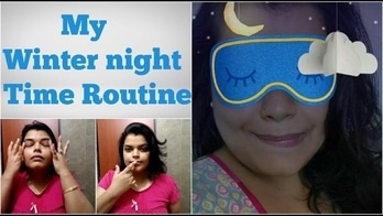 MY WINTER NIGHTTIME SKIN CARE ROUTINE 2017 IN HINDI | FOR DRY & OILY SKIN | INDIAN ROUTINE
