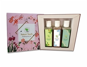 Nature Touch Gift Hamper (Pack of 3) – Face Wash, Hand Wash, Body Wash (Neem & Tea Tree, Strawberry and Lavender)  #cosmetics #beautyproducts #facewash #bodylotion #roposo-styles #makeupforever #skincare #everydaycarry  *Price Rs. 1599 *Link https://www.amazon.in/dp/B07663R4C9