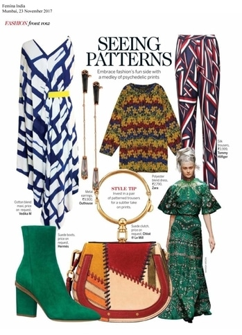 Tropical vibes with #vedikam hand painted maxi featured in @feminaindia November issue!