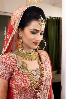 Gorgeous Lekha looking Ravishing as a traditional indian bride!  Makeup by Parul Garg #bridal