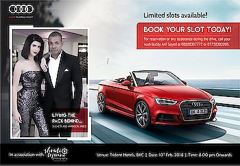 "Guess Whatttt !!!!! This coming #saturday I got power wheels to win over my husband all over again #Audi #Ride followed by a #dinnerdate followed by ""again"" two hearts on wheels vrooming the city which never sleeps #Mumbai #happy #excited #ready #sportscars #RS7 #A5 #S5 ♥️♥️♥️"