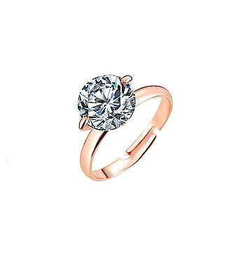 18k Gold Plated Zircon Ring Rs 499/- Adjustable Shop Now - https://goo.gl/ur7Vng ————————————— #solitairering #fashionring #engagementring #designerring #onlinefashionring #artificialrings #resizablering #fashionjewellery #onlinefashionjewelry #sexyring