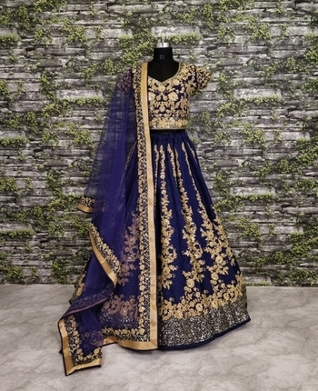 💝❤️💟💓💕Give yourself an #unique look by wearing this #exquisite navy #blue color silk #lehenga set. 👉This spectacular attire is highlated interestingly with dori and sequins work that gives a divine look to the outfit. 👉Flaunt this #designeroutfit in your wedding #engagement or #sangeet ceremony. For just💰 Rs 3499/- 👉💯Original! ✔️ 👉💯Quality!✔️ 👉🌎Worldwide Shipping ✔️ 👉👗Custom Size Stitching available✔️ #ethnicwear #indiandress #indianethnicwear #ethnicplus #bridallehenga #lehengacholi #exclusive #shagun #shopping #shoppingonline #shopaholic #lehenga #bridal #original #couture #indiancouture #designerwear #originalproduct #delhi #punjab#instalike #instafollow