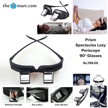 This #Prism Spectacles Lazy Periscope 90° Glasses from the house of TheYmart, Suitable for most of the people, including the aged people and kids.  Check it from here:- http://bit.ly/2A606NX #prismspectacles #glasses #photography #love #happy #talenthut #model