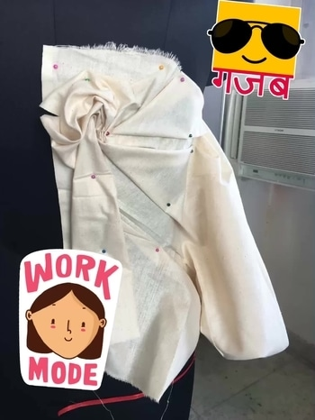 #drapes#designerslife#fashion#student#collegelife #gajab #workmode