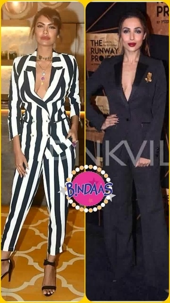 💜 STYLE ON MY MIND 💜 'No shirt no problem ',confidence is only what u require  to carry such look so effortlessly. #eshagupta #malaikaarora oozing sex appeal in #pant suit.😍😍 fashion2017#styletutorials #stylealerts #bollywoodstyle #style2017#glamorouslook #fashiondivas#roposo-makeupandfashiondiaries #roposo-style #roposofashion #fashionpost#roposofashionbloggernetwork #delhifashionbloggernetwork  #roposodelhi   #bindaas