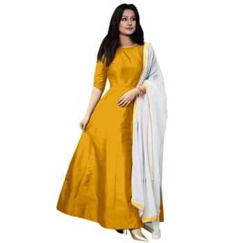 style:- long gown  #nice Top, Bottom and Dupatta. #fantastic Top, Inner and Dupatta #fabulous Semi-stitched indo - westren gown #awesome Wear , Wedding Wear , ceremony   price:- 449/-  Contact for call and whatapp : 99243644307 Piyush Dhameliya