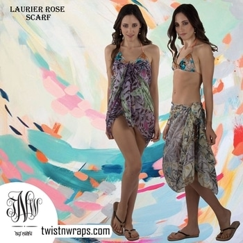 """Laurier rose -olive 🧣   Shop our scarf which u can use for both day or night styling . Check the lookbook where our team use the """" Laurier silk scarf"""" for the pool side sarong drape & the same scarf is styled for dinner date   #followusformore #twistnwraps on #instagram #facebook #twitter #pinterest for more #stylingtips .#shopnow #scarf #scarves #tnwscarves from our #vintagecollection or #warmweather #fashionlook #fashiontips #fashiongram #fashionshop #accessories #fashionaccesories #styleblogger #stylist #worldfashionbloggers #womenfashion #womenfashionguide"""