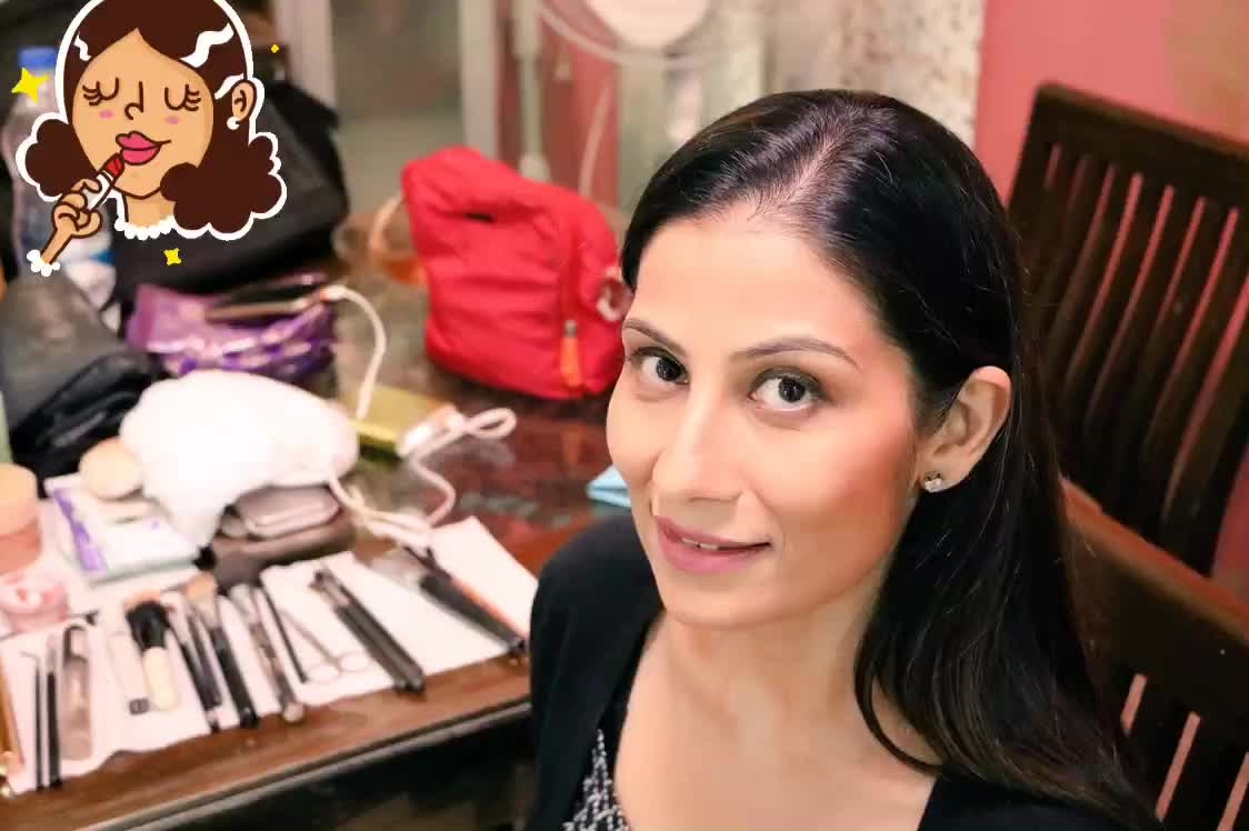 Wake up - Make Up - Cook Up the storm... shoot day, something interesting coming up. 💋💋💋 Love M. #ChefMeghna #Makeup #shooting #shootday #light #camera #action #lipstick