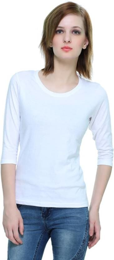 THEHEX Casual 3/4th Sleeve Solid Women White Top  #tops #tanktops #womenwear #summerwear #tees  #fashion #womenshirts #clothes #roposo-styles #winterwear #be-fasionable #womenshirt #ladieswear #styles #bindass #roposolove #cool #beauty  *Price Rs. 349 *Link http://bit.ly/2nrcdD5