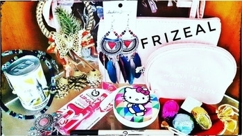 Frizeal December 2017   Shimmer Bag   Discount code   Unboxing & Review   *Giveaway open*  December Frizeal Shimmer Bag unboxing & review is up on my channel. This time it is a complete package including Jewellery, Makeup, Skincare, Bag, Lifestyle, Personal Hygiene, Sweet treats & Festive inclusions. This time along with choice in jewellery, there is choice in Bag as well. You can opt to get any of the previous Shimmer Bags, which in my opinion is a very good chance to get your hands on your favourite. And this month, Frizeal has introduced new lifestyle section which has 2 very cute & quirky products and somethings very useful too. So I loved them! Overall I liked 👍 all products. 💗 Please watch the full unboxing and review video on my channel now to know more 😍 Link in bio! 💗 They have 3 different variants catering to different budgets as mentioned below: Shimmer Mini Bag : Rs.670/- including shipping Shimmer Bag : Rs. 855/- including shipping Glitz Bag : Rs. 1425/- including shipping Discount Code : SONAMDEC5 Discount is valid on all three bags to get the above prices! 💗 To Buy any of these bags: DM - https://www.instagram.com/frizealofficial/ or WhatsApp - 7290001565  or Email - frizealindia@gmail.com Facebook Page : www.facebook.com/Frizeal 💗 #frizeal #subscriptionboxindia  #shimmerbag #pouchset #earphonecase #cute #quirky #makeup #skincare #december2017 #jewellerysubscription #unboxingandreview #quality #premium #pretty #earrings #necklace #beauty #jewellery #affordable #honestreviews #youtuber #sonammahapatra
