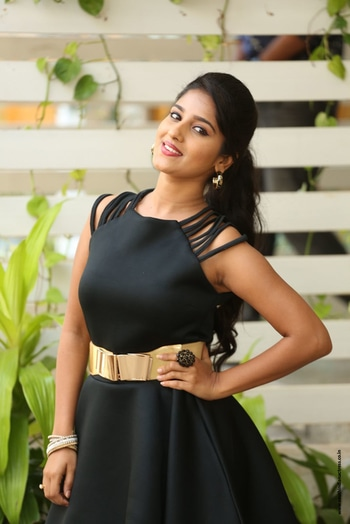 Meghana Lokesh at Idi Maa Prema Katha Interview http://www.southindianactress.co.in/featured/meghana-lokesh-idi-maa-prema-katha-interview/ #meghanalokesh #southindianactress #teluguactress #tollywoodactress #tollywood #blackdress #blacktop
