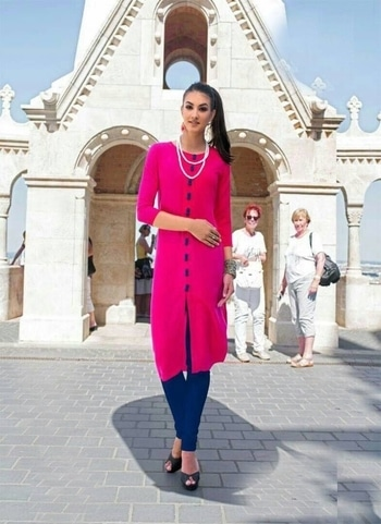 #be-fashionable & Get this #trendy #casual-clothing #kurtionlineshopping  To order connect with us on +919619659727 or +919789932431 via WhatsApp or call  Ready to ship  singles / multiples Ready  Look for Latest Designs and Trendy Outfits on http://artistryc.in