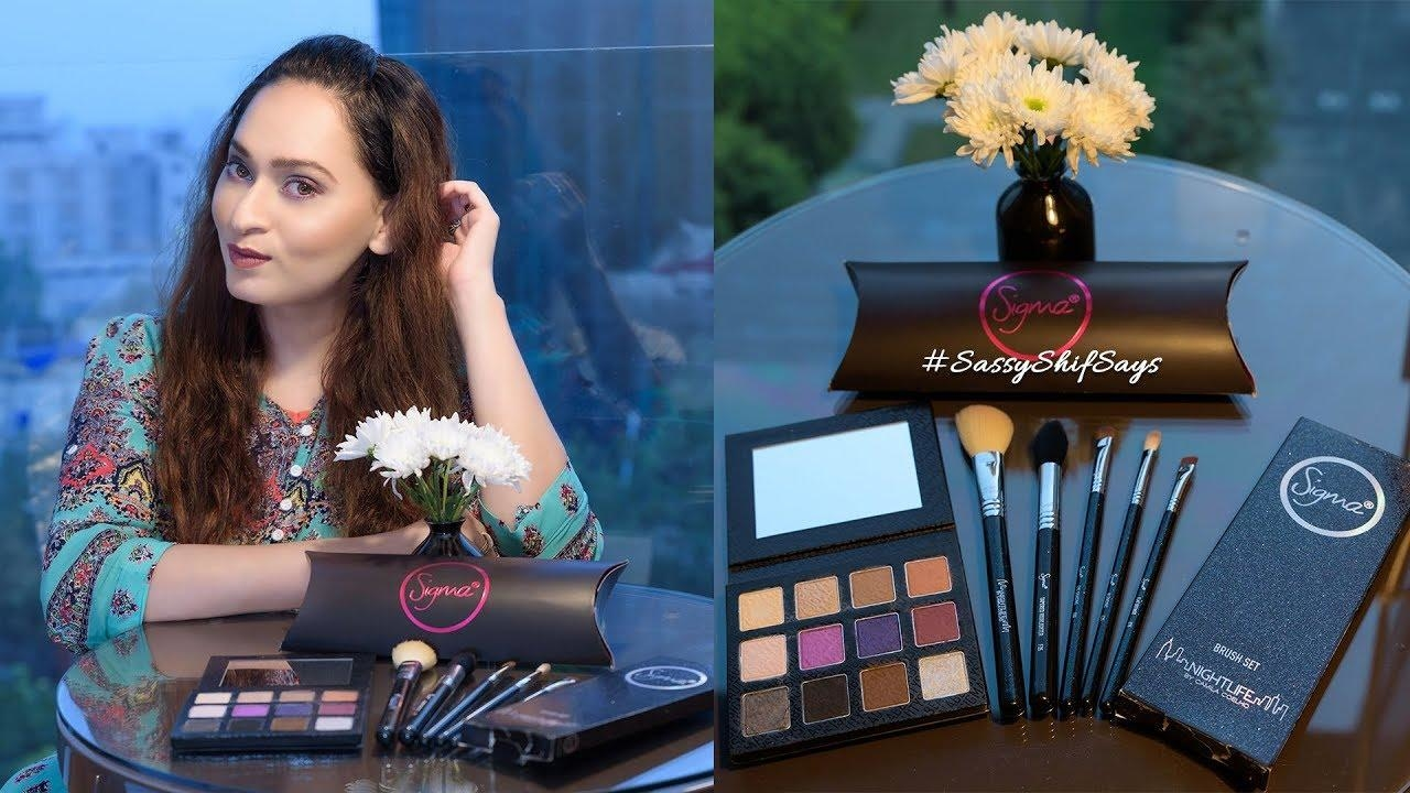 Sigma Nightlife Range – Palette + Brush Set Review & Look  Click here to Subscribe to my Channel - https://www.youtube.com/c/SassyshifsaysIn1  I had my eyes on this NIGHTLIFE range by Sigma Beauty for the longest time now and I couldn't contain my excitement when I finally got my hands on their beautiful eyeshadow palette + the brush set. This range has been designed in collaboration with the supremely talented YouTuber Camila Coelho and I love how much thought she has put into the palette.  #SassyShifSays #SassyShifBeauty #BBlogger #BeautyBlogger #eyemakeup #Sigma #SigmaBeauty #SigmaNightlife #EyeShadowPalette #BrushSet #SigmaPatented #MumbaiBlogger #makeuplovermakeuptutorial