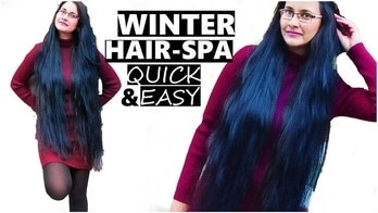 WINTER HAIR SPA | QUICK & EASY #winterhaircare #winterhairspa #youtuber #bangaloreyoutuber #beautifullyouh