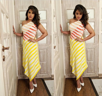 Richa Chadha in BCBG Max Azria for Fukrey 2 promotions. #richachadha #celebstyle #stylespotting