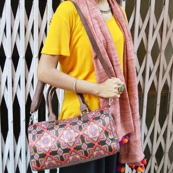 Planning for winter trip?? Well we have something which will drag everyone's attention towards you. Shop our latest launch. #fashionaccessories #shoponline #printedbags #folkart #traditionaldesign #handbags #totebags #wallet #pouch #handpaintedbags #dufflebag #Indianart #famousindianbags #traditionalpainting #IndianAugust #designerbag #collegebag #travelbags #handcraftedbags