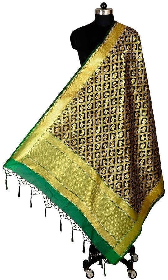 Black Color Banarasi Silk Dupatta  • Pure Banarasi Silk Dupatta • Fabric : Banarasi Silk • Dupatta Size : 100 inches X 36 inches  SKU: DUP0071-Black Rs. 1,499.00  at Best Price online at #IshiMaya #happynewyears #happynewyear2018 #christmasparty #x-mas