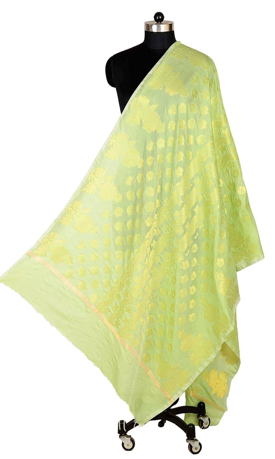 Green Color Banarasi Silk Dupatta  • Pure Banarasi Silk Dupatta • Fabric : Banarasi Silk • Dupatta Size : 100 inches X 36 inches  SKU: DUP0080-Light-Green Rs. 799.00  at Best Price online at #IshiMaya #happynewyears #happynewyear2018 #christmasparty #x-mas