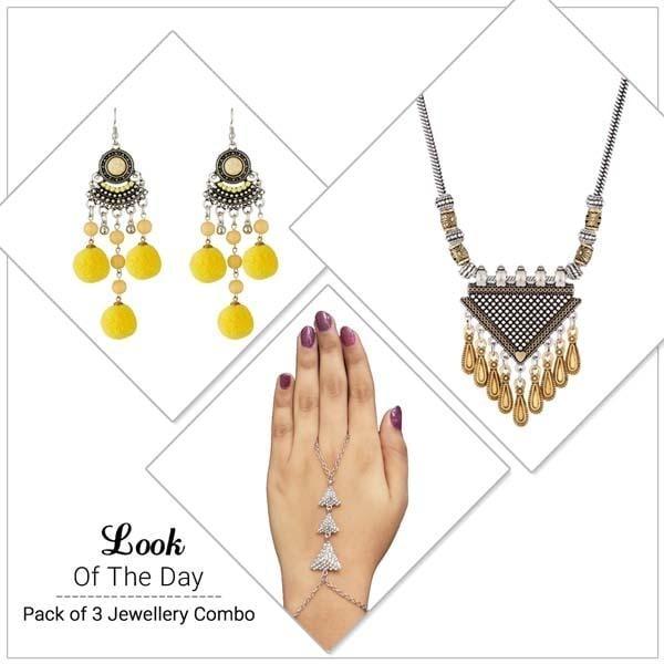 !!!! Exciting Offer !!!! Get Here - https://goo.gl/W6z4BE #Shop #Combos #Setof3 #Treny #Jewelry #jewelmaze