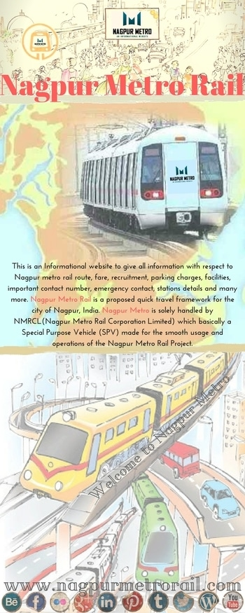 Welcome to #NagpurMetroRail #informationalwebsite, Get information about #NagpurMetroRail Fare, #Route, #Recruitment, #Maps, #Stations, timings and #Parking. #nagpurmetro #nagpurmetrorail