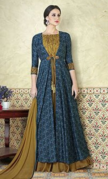 Blue and Green Floor Touch Frock Suit  • Floor Touch Frock Suit • Fabric : Tussar Silk • Salwar Fabric : Shantoon • Dupatta Fabric : Chiffon • Inner Fabric : Shantoon • Size : Semi-Stitched (customizable Upto size-44)  SKU: SUEBRVIO5310 Rs. 3,699   #anarakli #suit    #wedding-suits-designer #wedding #wedding-outfits#lehenga-for-#wedding #weddinglook#weddinglook #weddinglehngas #wedding-lehnga #wedding #wedding-bride #wedding-dress #weddingday#weddinggoals#weddingideas#weddingthings #happynewyears #happynewyear2018 #christmasparty #x-mas  http://www.ishimaya.com/salwar-kameez/tussarsilk.html