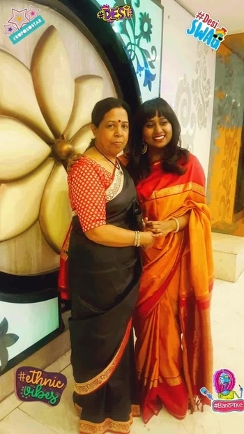 Totally in luv wid d #ethenic #traditional  luk in #silk  #saree ...nd who else to pose wid...other den my #mom ...!!!  #roposostar #banthanke #desiswag #desi #ethnicvibes