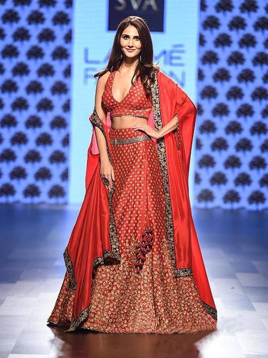 Remarkable Silk Fire Red Dabka Work Panel Style Cut Sleeves Lehenga Choli @@@ http://bit.ly/2kr56FH