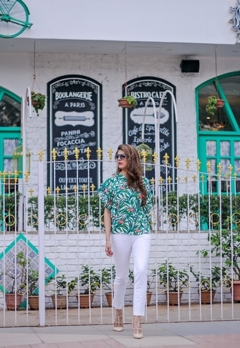 This printed top is bright, colourful & perfect for a fun day out! Team it with white pants like blogger Nitali for a fun and chic look.   Shop on http://bit.ly/2j8vd4h   #soroposo #onlineshopping #shopping #colour #shoppingtips #fashion #fashiontips #photooftheday #trendy #musthave #nowtrending #stylish #blogger #love #follow #fashionblogger #styleblogger #awesome #ootd #potd #ruffletop #summerstyle #summer #summer17