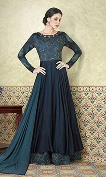 Blue Floor Touch Frock Suit  • Floor Touch Frock Suit • Fabric : Satin and Cotton • Salwar Fabric : Shantoon • Dupatta Fabric : Chiffon • Inner Fabric : Shantoon • Size : Semi-Stitched (customizable Upto size-44)  SKU: SUEBRVIO5302 Rs. 3,499  #Suit  #wedding-suits-designer #wedding #wedding-outfits#lehenga-for-#wedding #weddinglook#weddinglook #weddinglehngas #wedding-lehnga #wedding #wedding-bride #wedding-dress #weddingday#weddinggoals#weddingideas#weddingthings #happynewyears #happynewyear2018 #christmasparty #x-mas  http://www.ishimaya.com/salwar-kameez/all-collections/festive-wear-floor-touch-frock-suits/blue-floor-touch-frock-suit-16325.html