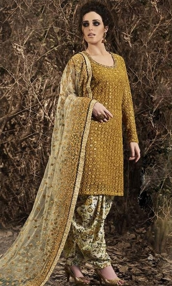 Gold and Beige Designer Patiala Suit  • Designer Party Wear Salwar Kameez • Embroidery, Zari, Zarkan with Hand work • Fabric : Net • Dupatta Fabric : Net • Bottom and Inner Fabric : Shantoon • Size : Semi-Stitched (customizable Upto size-42)  SKU: SUEJDSNK3042 Rs. 4,299  #Designer #Patiala #Suit  #wedding-suits-designer #wedding #wedding-outfits#lehenga-for-#wedding #weddinglook#weddinglook #weddinglehngas #wedding-lehnga #wedding #wedding-bride #wedding-dress #weddingday#weddinggoals#weddingideas#weddingthings #happynewyears #happynewyear2018 #christmasparty #x-mas  http://www.ishimaya.com/salwar-kameez/type/punjabi-suits/readytoship.html