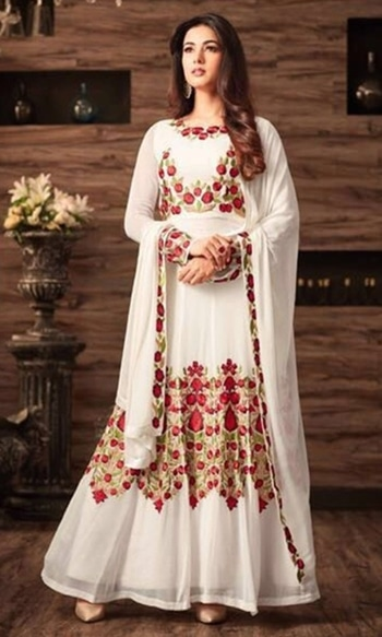White Floor Touch Frock Suit  • Floor Touch Frock Suit • Fabric : Georgette • Salwar Fabric : Shantoon • Dupatta Fabric : Chiffon • Inner Fabric : Shantoon • Size : Semi-Stitched (customizable Upto size-44)  SKU: SUEBRMS4804 Rs. 4,599  #wedding-designer-suits    #wedding-suits-designer #wedding #wedding-outfits#lehenga-for-#wedding #weddinglook#weddinglook #weddinglehngas #wedding-lehnga #wedding #wedding-bride #wedding-dress #weddingday#weddinggoals#weddingideas#weddingthings #happynewyears #happynewyear2018 #christmasparty #x-mas  http://www.ishimaya.com/salwar-kameez/white-party-boatneck.html