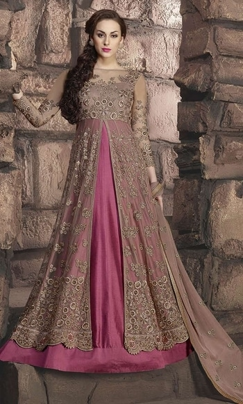 Party Wear Magenta and Pink Frock Suit  • Party wear Frock Suit • Fabric : Net and Banarasi Silk • Bottom Fabric : Shantoon • Inner Fabric : Shantoon • Dupatta Fabric : Net • Size : Semi-Stitched (customizable Upto size-44)  SKU: SUEJDSKW10002 Rs. 6,299  #partywear #suit   #wedding-suits-designer #wedding #wedding-outfits#lehenga-for-#wedding #weddinglook#weddinglook #weddinglehngas #wedding-lehnga #wedding #wedding-bride #wedding-dress #weddingday#weddinggoals#weddingideas#weddingthings #happynewyears #happynewyear2018 #christmasparty #x-mas  http://www.ishimaya.com/salwar-kameez/all-collections/floor-touch-frock-suit-collection/party-wear-magenta-and-pink-frock-suit.html