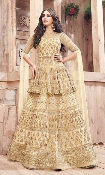 Party Wear Beige Designer Salwar Kameez  • Party wear Frock Suit • Fabric : Georgette and Net • Bottom : Jacquard •Inner Fabric : Shantoon • Dupatta Fabric : Chiffon • Size : Semi-Stitched (customizable Upto size-44)  SKU: SUEBRZO21001 Rs. 7,999  #partywear #suit   #wedding-suits-designer #wedding #wedding-outfits#lehenga-for-#wedding #weddinglook#weddinglook #weddinglehngas #wedding-lehnga #wedding #wedding-bride #wedding-dress #weddingday#weddinggoals#weddingideas#weddingthings #happynewyears #happynewyear2018 #christmasparty #x-mas  http://www.ishimaya.com/salwar-kameez/type/ethnic-suits/shararasuit.html