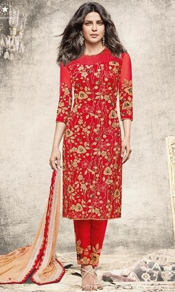 Red Straight Cut Salwar Kameez  • Straight Cut Salwar Kameez • Fabric : Net • Salwar Fabric : Raw Silk • Dupatta Fabric : Chiffon • Size : Semi-Stitched (customizable Upto size-44).  SKU: SUEJDSHR5190 Rs. 4,399  #straight #salwarkameez   #wedding-suits-designer #wedding #wedding-outfits#lehenga-for-#wedding #weddinglook#weddinglook #weddinglehngas #wedding-lehnga #wedding #wedding-bride #wedding-dress #weddingday#weddinggoals#weddingideas#weddingthings #happynewyears #happynewyear2018 #christmasparty #x-mas  http://www.ishimaya.com/salwar-kameez/type/bollywood/beige_1-roundneck_1.html