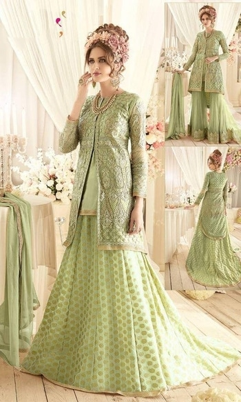 Green Floor Length Designer Suit  • Embroidered Floor Length Suit • Fabric : Net and Banarasi Jacquard • Salwar Fabric : Net • Dupatta Fabric : Chiffon • Inner Fabric : Satin • Size : Semi-Stitched (customizable Upto size-44)  SKU: SUEBRSYB-S92 Rs. 7,299  #embroidered #length #suit   #wedding-suits-designer #wedding #wedding-outfits#lehenga-for-#wedding #weddinglook#weddinglook #weddinglehngas #wedding-lehnga #wedding #wedding-bride #wedding-dress #weddingday#weddinggoals#weddingideas#weddingthings #happynewyears #happynewyear2018 #christmasparty #x-mas  http://www.ishimaya.com/salwar-kameez/occasion/party-wear/party-embroidered-designer_1-shararasuit-roundneck_1.html
