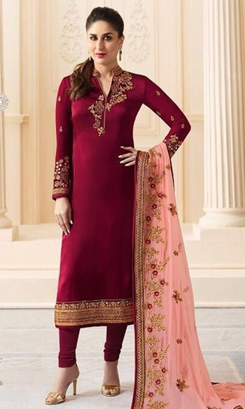 Maroon Straight Churidar Salwar Suit  • Straight Churidar Salwar Suit • Fabric : Georgette • Salwar Fabric : Shantoon • Dupatta Fabric : Georgette • Size : Semi-Stitched (customizable Upto size-44)  SKU: SUEBRVF6276 Rs. 3,499  #Straight #Salwar #Suit  #wedding-suits-designer #wedding #wedding-outfits#lehenga-for-#wedding #weddinglook#weddinglook #weddinglehngas #wedding-lehnga #wedding #wedding-bride #wedding-dress #weddingday#weddinggoals#weddingideas#weddingthings #happynewyears #happynewyear2018 #christmasparty #x-mas  http://www.ishimaya.com/salwar-kameez/all-collections/georgette-straight-cut-churidar-suit/maroon-straight-churidar-salwar-suit.html