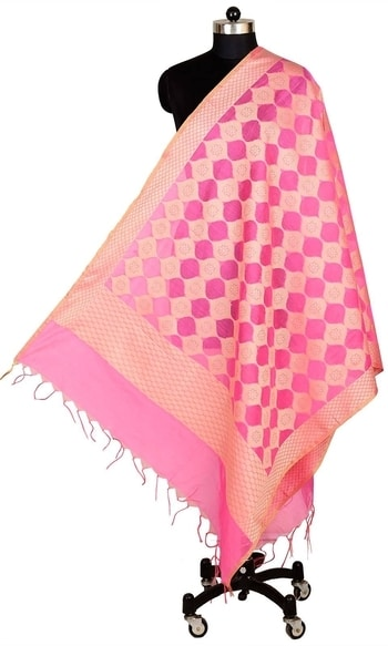 Pink Color Banarasi Silk Dupatta  • Pure Banarasi Silk Dupatta • Fabric : Banarasi Silk • Dupatta Size : 100 inches X 36 inches  SKU: DUP0076-Pink Rs. 899  #dupatta  #happynewyears #happynewyear2018 #christmasparty #x-mas  http://www.ishimaya.com/dupattas/pink-color-banarasi-silk-dupatta-15080.html