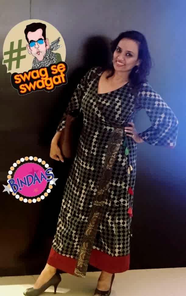 swagat with swag😜🔥 #swag #swagat #ropo-style #tassellove #dressgown #wrap_around #blueygrey #nomakeuplook#blackheels  #swagseswagat #bindaas