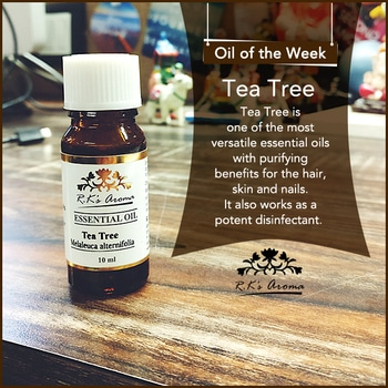 Whether it's fighting acne, blemishes, bacteria or insects – our #OilOfTheWeek, R.K's Aroma Tea Tree essential oil, can do it all!