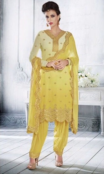Yellow Heavy Embroidered Salwar Suit  • Heavy Embroidered Salwar Suit • Fabric : Georgette • Salwar Fabric : Shantoon • Dupatta Fabric : Chiffon • Size : Semi-Stitched (customizable Upto size-44)  SKU: SUEBRNK3058 Rs. 4,699  #embroidered #salwar #suit   #wedding-suits-designer #wedding #wedding-outfits#lehenga-for-#wedding #weddinglook#weddinglook #weddinglehngas #wedding-lehnga #wedding #wedding-bride #wedding-dress #weddingday#weddinggoals#weddingideas#weddingthings #happynewyears #happynewyear2018 #christmasparty #x-mas  http://www.ishimaya.com/salwar-kameez/type/punjabi-suits.html
