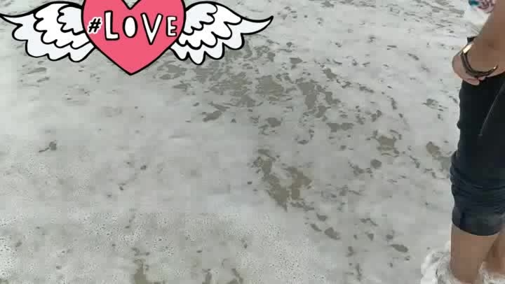 love is everywhere #loveing #sea #sandart #loveintheair #love